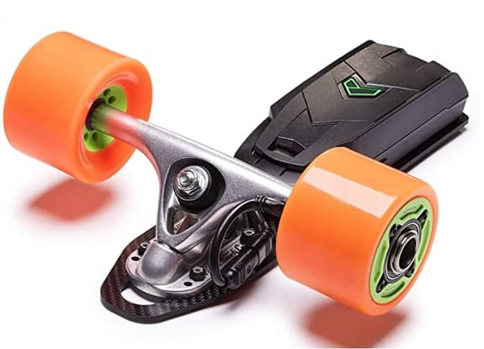 loaded electric skateboard wheel